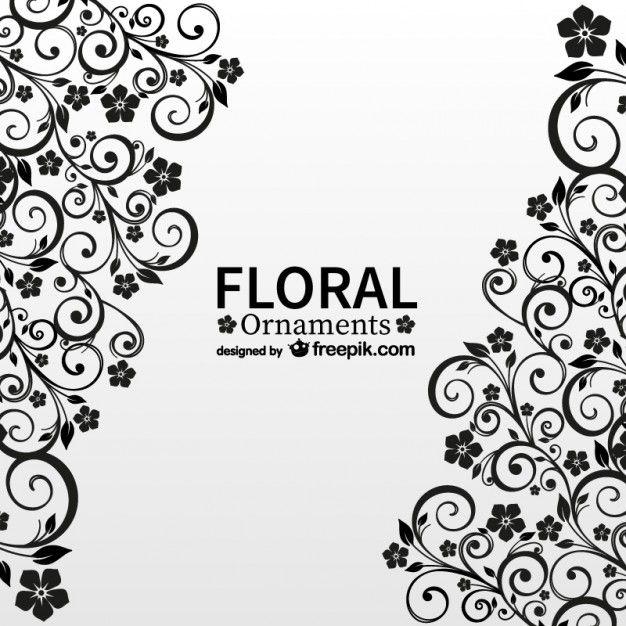 Antigo floral cartão do vetor livre Vetor grátis