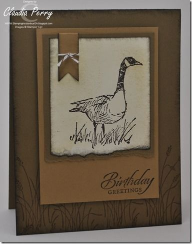 wetlands, Stampin' Up!, masculine card, Stamp-a-Stack