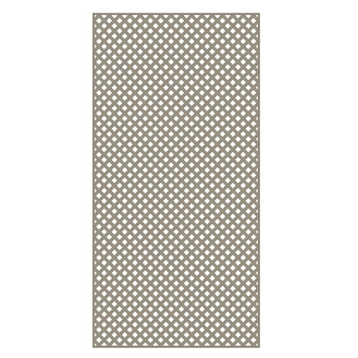 Shop Barrette Clay Privacy Vinyl Lattice (Common: 0.2-in x