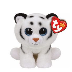 Petite peluche TY Beanie Boos Tundra le tigre blanc