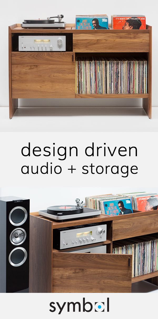 Unison Record Stand All In One Vinyl Record Storage Symbol Audio Vinyl Storage Vinyl Record Storage Attic Renovation