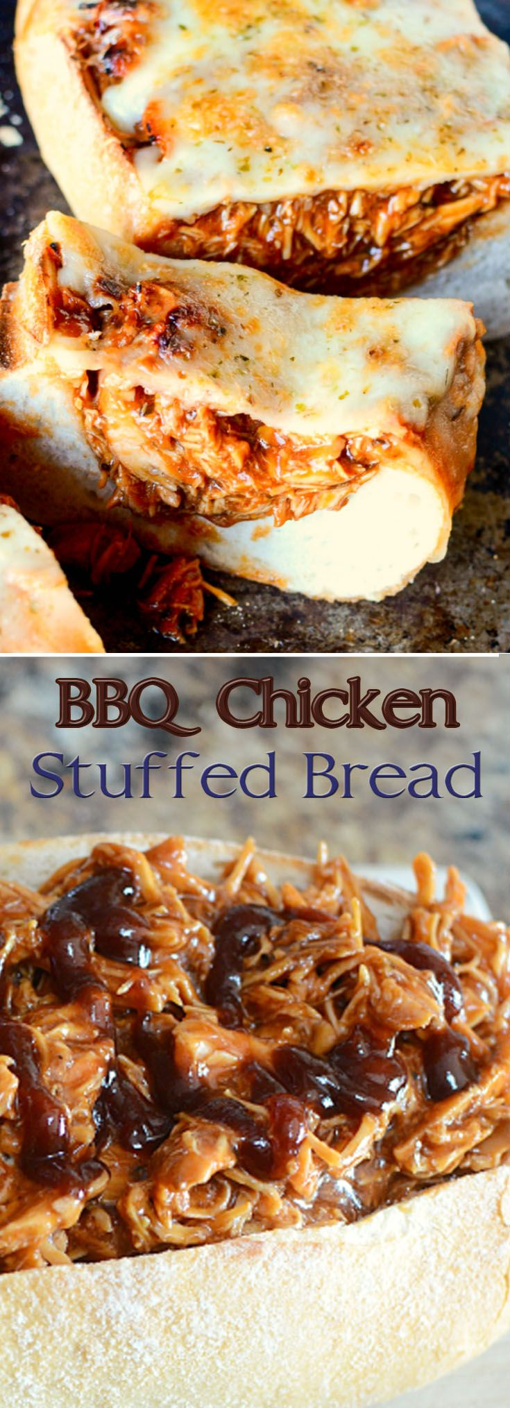 BBQ Chicken Stuffed Bread