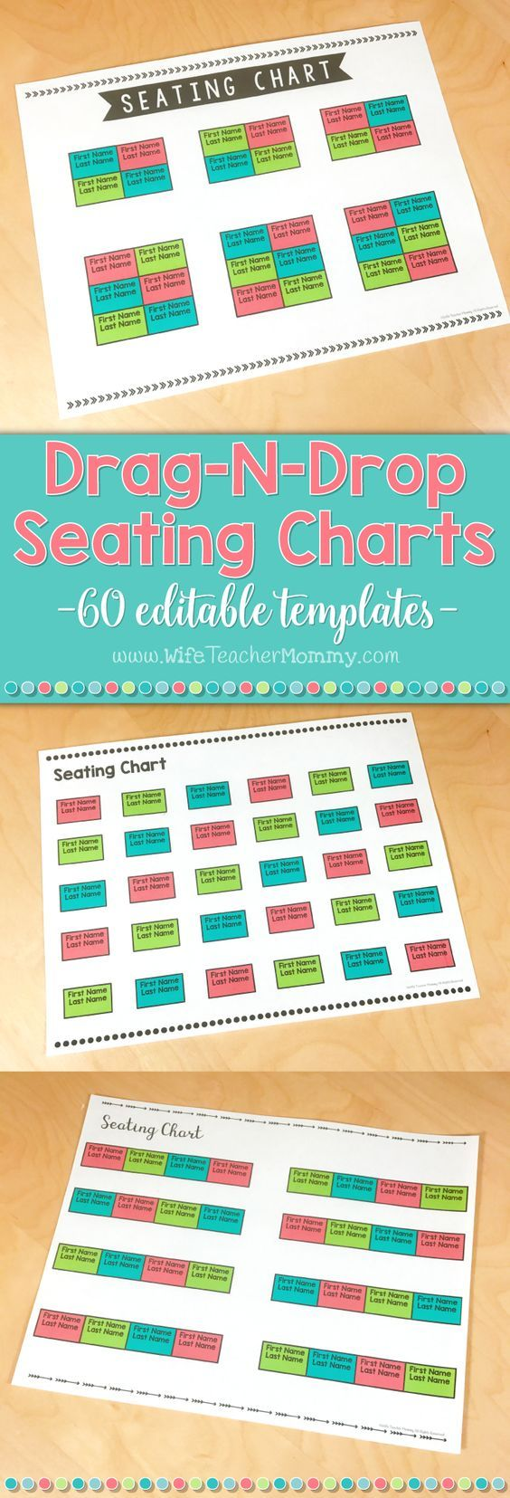 These editable seating chart PowerPoint templates allow you to create adorable seating charts on your computer. Most of the heavy lifting is done for you and all that is left to do is customize! Also perfect for substitutes, student teachers, volunteers, etc! There are 10 adorable, ink-friendly designs, and a horizontal and vertical version of each. Then, in each file there are 3 different layouts to choose from: individual desks, tables, or rows. (However, you can drag and drop...