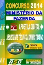 Apostila Concurso Ministerio da Fazenda Assistente Tecnico Administrativo