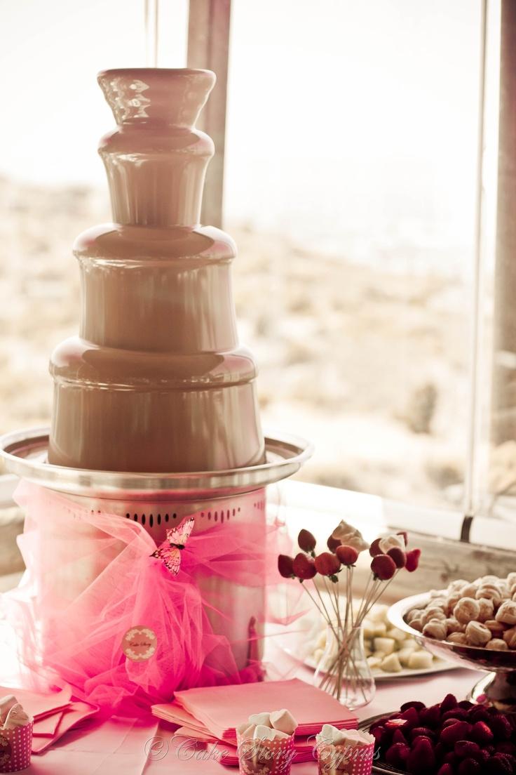 Chocolate fountain for weddings TABLE SETTINGS SWEET