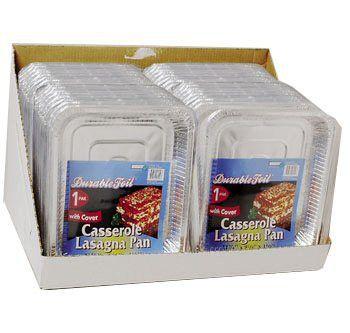 Aluminum Casserole Lasagna Pan with Lid - 36 Pack Case Pack 36