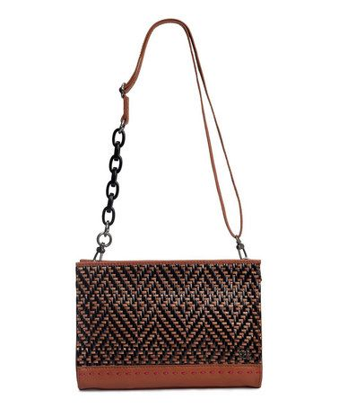 Take a look at this Black & Natural Woven Iris Demi Clutch by The Sak on #zulily today!