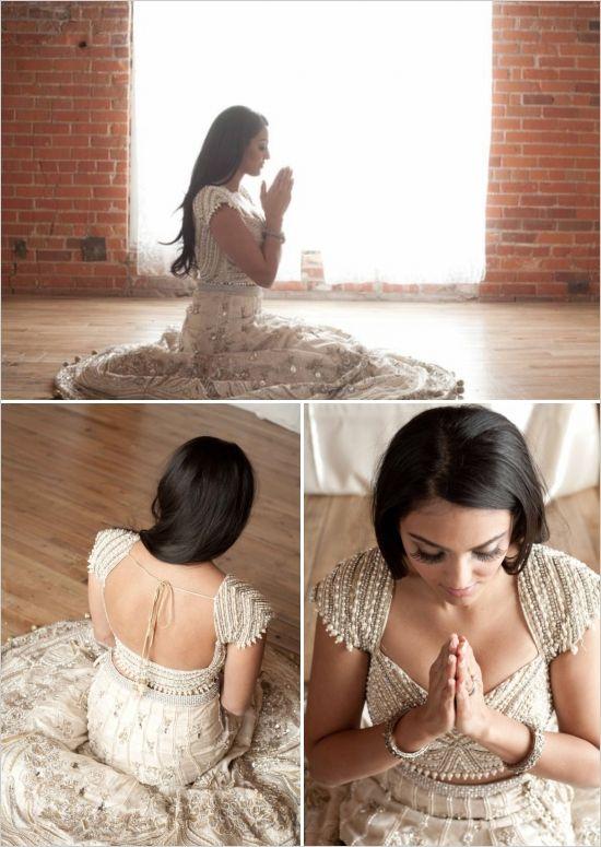custom lehnga from India - gold bridal indian wedding dress