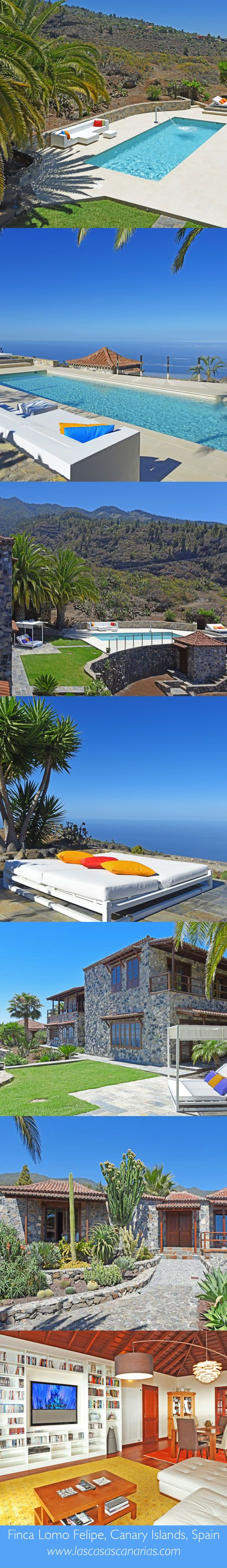 Luxury villa Finca Lomo Felipe, La Palma, Canary Islands, Spain  ✈✈✈ Don't miss your chance to win a Free Roundtrip Ticket to La Palma, Spain from anywhere in the world **GIVEAWAY** ✈✈✈ https://thedecisionmoment.com/free-roundtrip-tickets-to-europe-spain-la-palma/