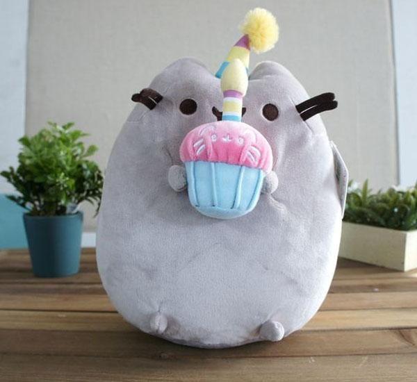 "GUND Pusheen Happy Birthday Cupcake Plush 10.5"" - https://destinationcute.com - Your #1 destination for everything Cute & Kawaii"