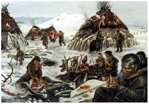 Geschiedenislessen: IJstijd, Jagers en  verzamelaars, boeren.