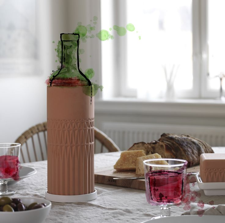 Wine's not as cool without it. Wine, the classical way. Style, taste, bouquet. Terracotta ANVÄNDBAR wine cooler brings rustic vinyard elegance. So chill the old way. And start to live a little kinder. #Livealittlekinder #IKEAcollections #ANVÄNDBAR #IKEA #greenhomes #winecooler