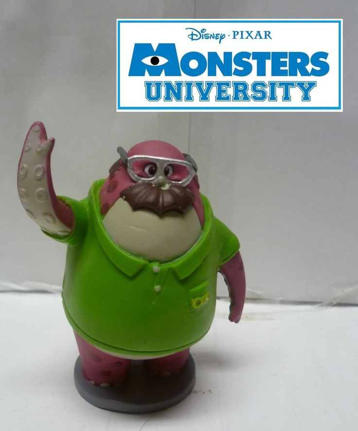 Monsters University Disney Store Exclusive Don Carlton Figure Loose & Rare #DisneyStore