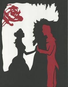 Paper Cut Silhouette Beauty and the Beast The Man by Twinnovations