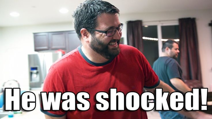 I surprised him with a new gaming PC! His reaction is priceless