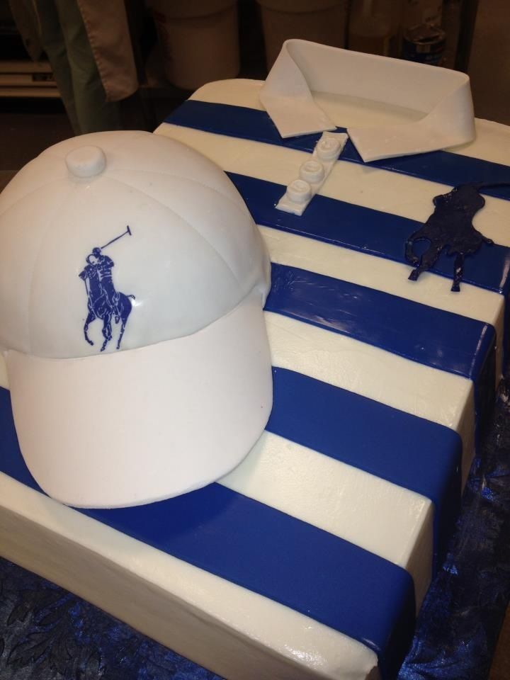 Ralph Lauren Polo Shirt and Cap Cake
