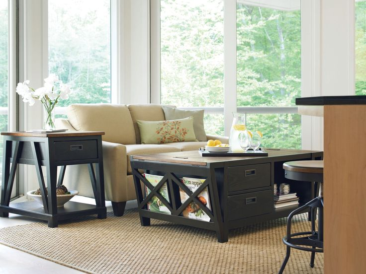 Catch All Storage Table, End Table, and Factory Stool++Great Rooms Collection by Universal