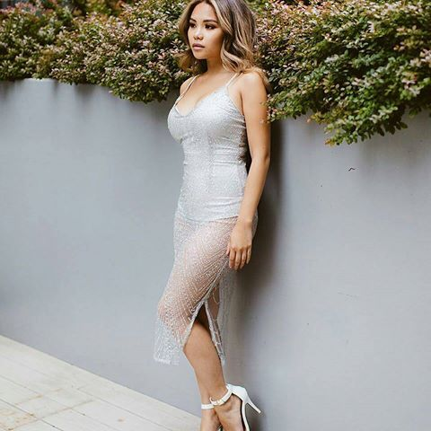 "Silver dress! 😍💕😘 Tag n follow to be featured 💕😍 @Regrann from @dawnealiza -  I ""See Thru You"" Dress by @ohpolly 💕  #ootd #beautyblogger #fashion #style #womenfashion #love"