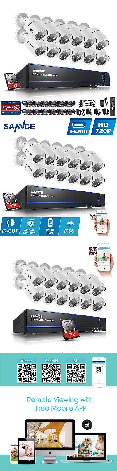 CCTV Systems 159909: Sannce 16Ch 4In1 Hd 1080N Hdmi Dvr Ir 1500Tvl Home Security Camera System 3T App -> BUY IT NOW ONLY: $429.98 on eBay!