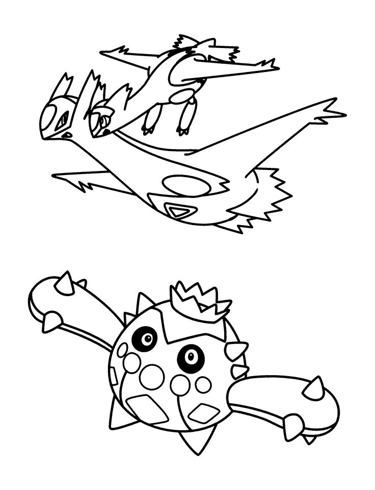 Coloring Page - Pokemon advanced coloring pages 202