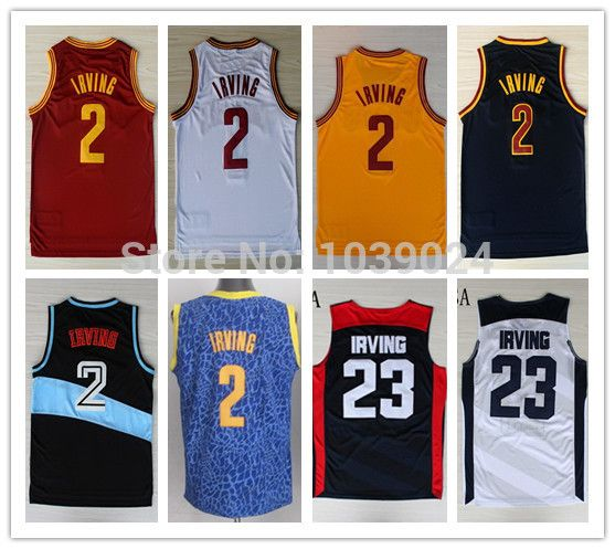 Find More Sports Jerseys Information about Rev30 Yellow #2 Kyrie Irving Jersey Red White Black Mix Blue Leopard Basketball Kyrie Irving USA Jersey Blue White Hot Sale,High Quality Sports Jerseys from Live 4 Sports Store on Aliexpress.com
