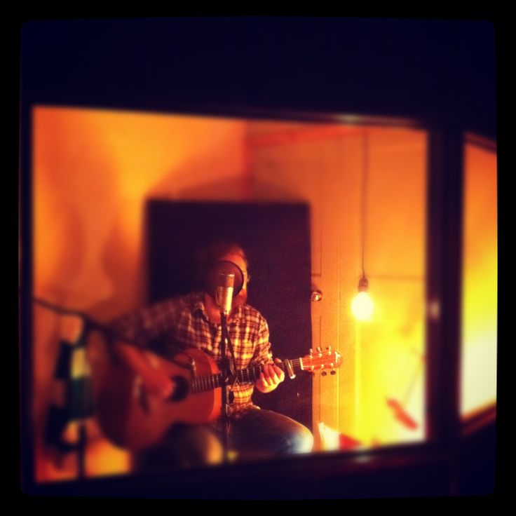 Ross Wilson from Blue Rose Code recording at The Session Rooms.