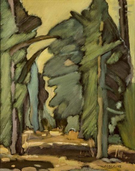 Artwork by Stanley Cosgrove, forest light, Made of Oil on board