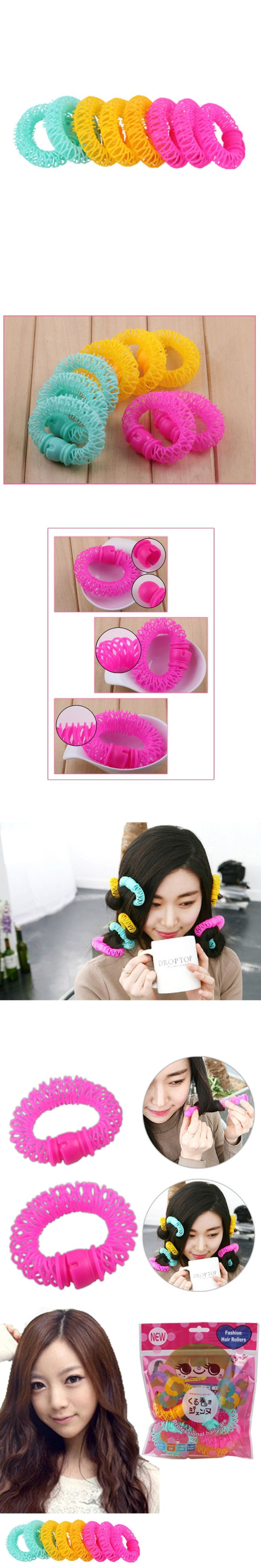 8piece/A doughnut curler; a large curling tool made of plastic without hurting the hair