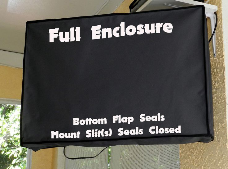 Full Enclosure  Waterproof TV Cover. Protect your Television.  www.customtvwraps.com