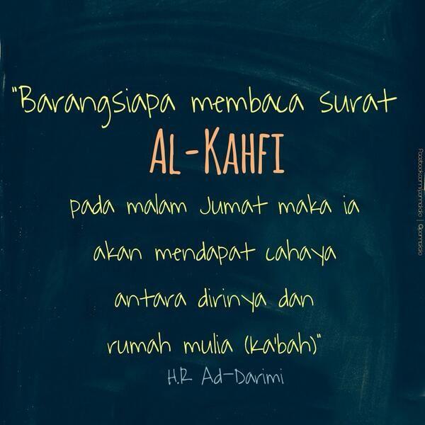 Jumat Membaca Al Kahfi | @pomatato tweet.