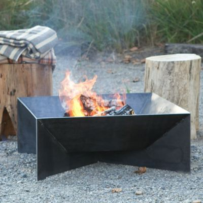 Nice square fire pit!
