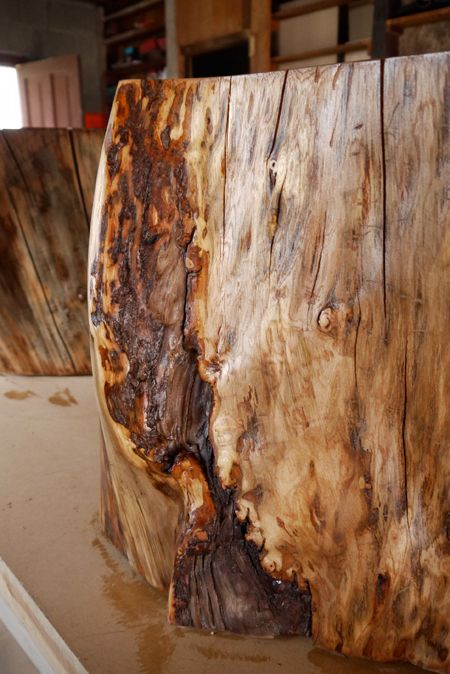 How to seal a stump and use it for furniture.  Need to do this for an outdoor table...