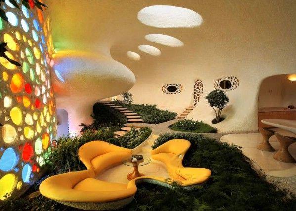 Senosiain Nautilus House: Unusual Home, Living Rooms, Houses Interiors, Mexico Cities, Home Interiors Design, Home Design, Unique Rooms, Unusual Houses, Houses Design