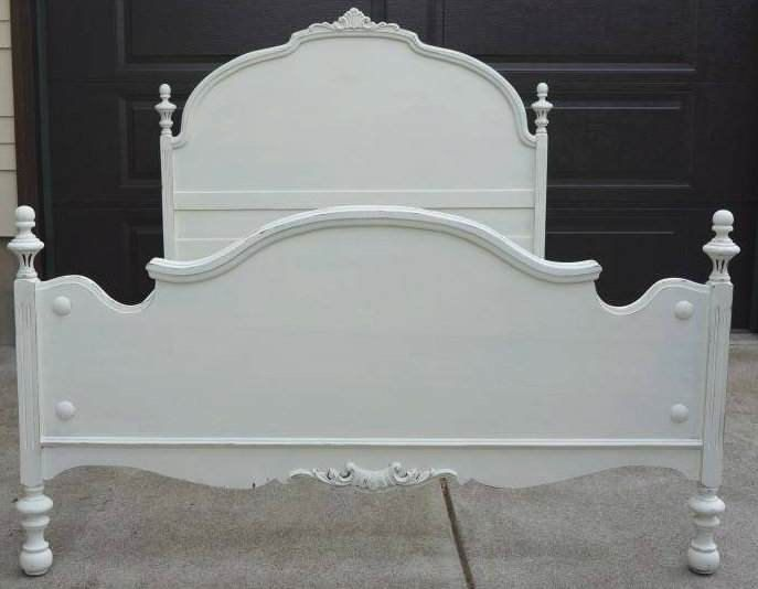 Charming Shabby Cottage Chic antique full bed frame. Perfect for a girls room.