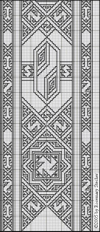 Chart for Double Running Stitch and Drawn Thread Embroidery