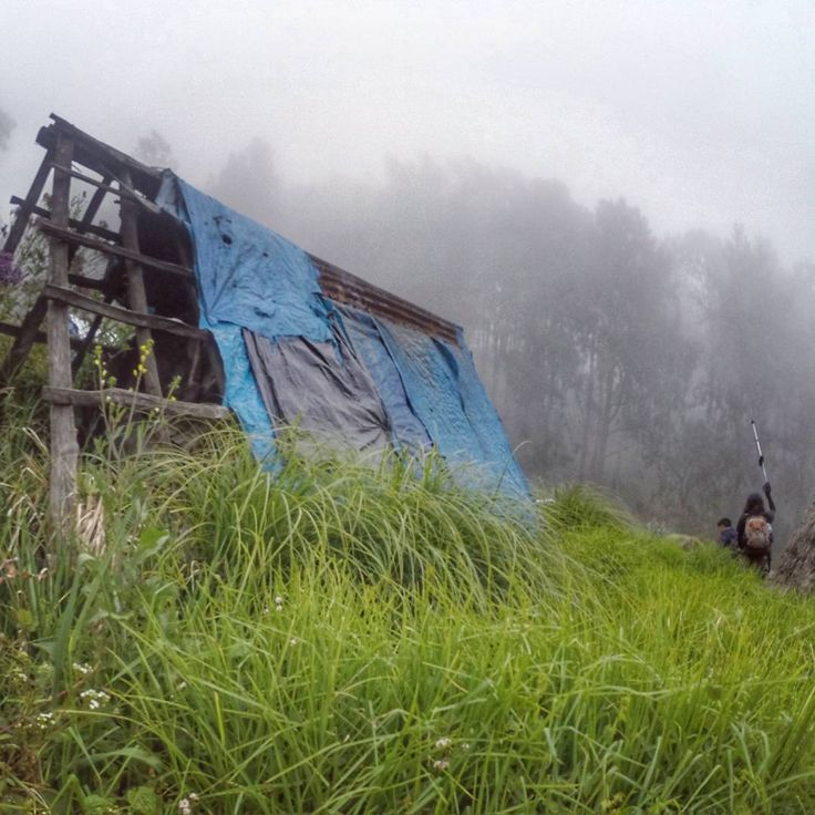 After walking a steep #trek to the base of #gunungwelirang, we came to some #abandoned #hut at Pondokan .. See my prev postings on these #huts ..  #trekking #hiking #ultra #trailrunning #gunungarjuno #mountainlovers #explore #malang #eastjava