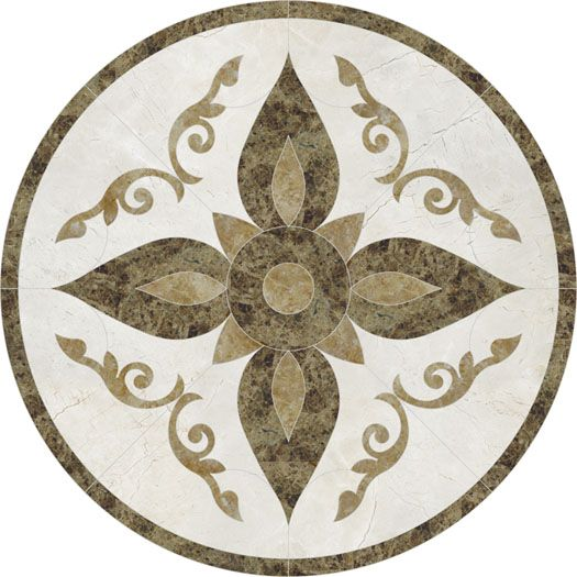 Tile Inlay Patterns : Floor medallions for tile