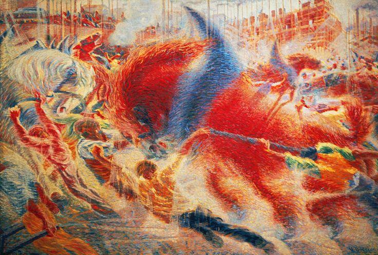 La Città Che Sale Umberto Boccioni Oil on canvas, 1911 The MOMA