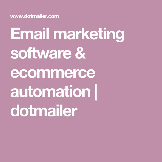 Email marketing software & ecommerce automation   dotmailer