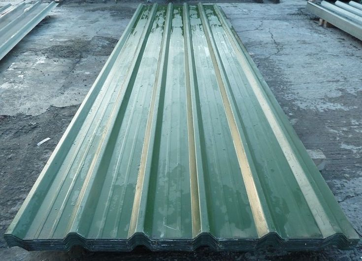 Steel Roofing Sheets Box Profile Juniper Green PVC Coated Metal Roof VERY  CHEAP