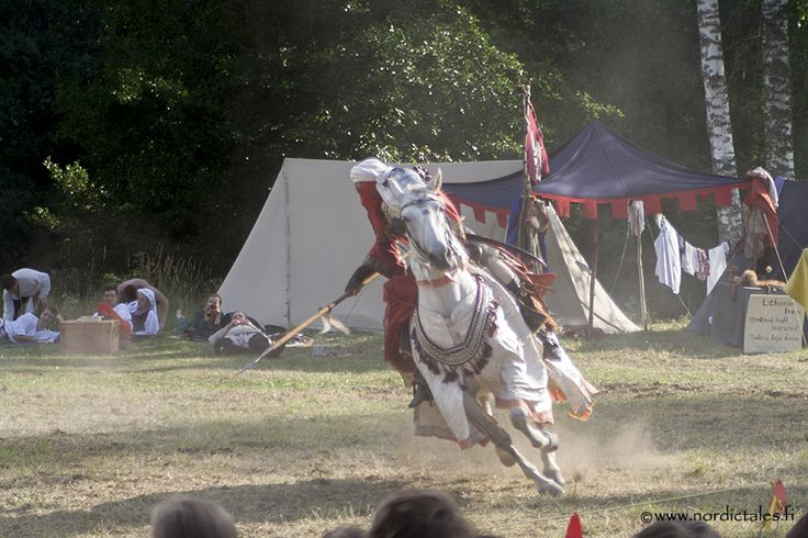 Horse show at the Medieval Festival in Verla, Finland