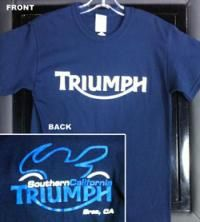 SoCal Triumph 2010 Bike Logo T-Shirt Blue from Southern California Triumph/Ducati Accessories