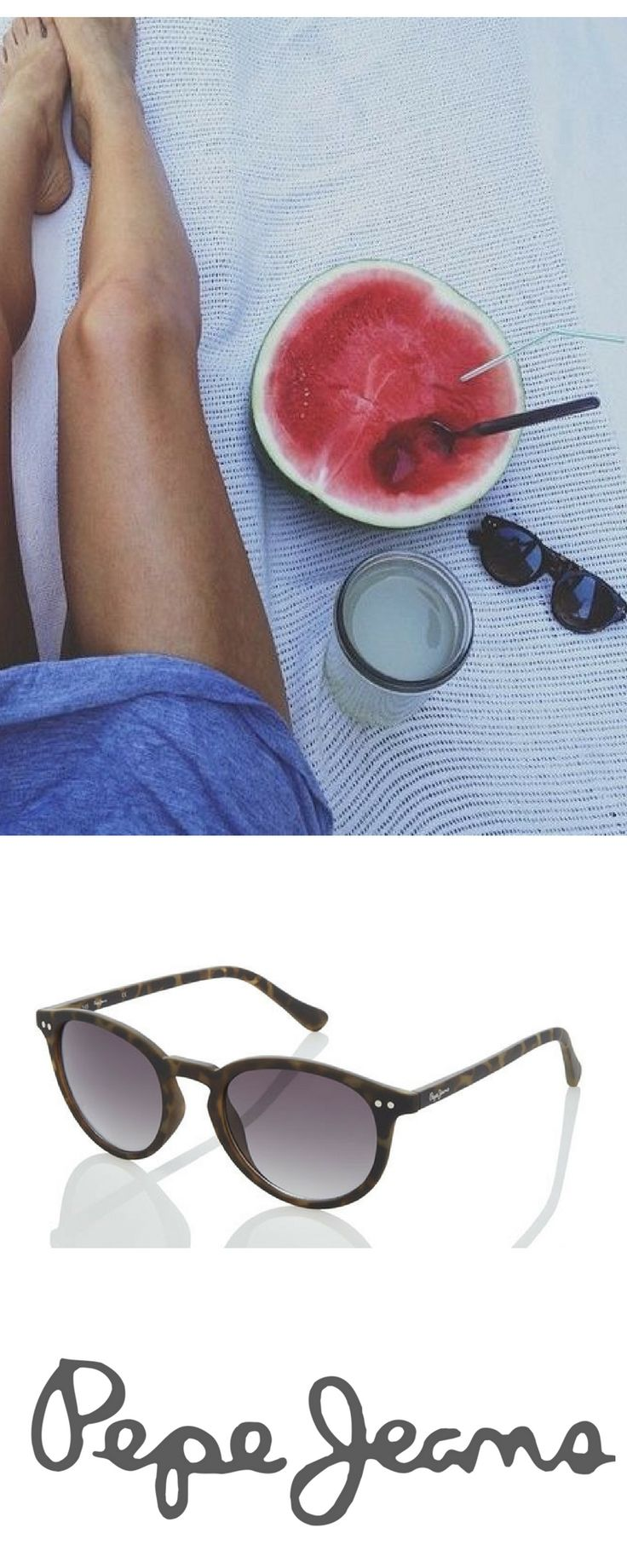 What's better than watermelon in a sunny day? Maybe a pair of these Pepe Jeans Sunnies. Pic: @glitterguide