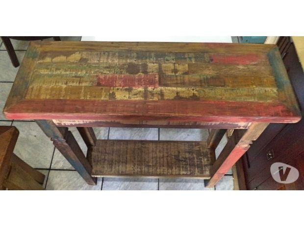 Aparador Rústico Colorido   Madeira de Demolição