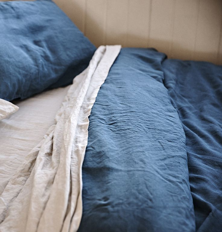 Linen Duvet Cover in Indigo by IN BED   The Horse