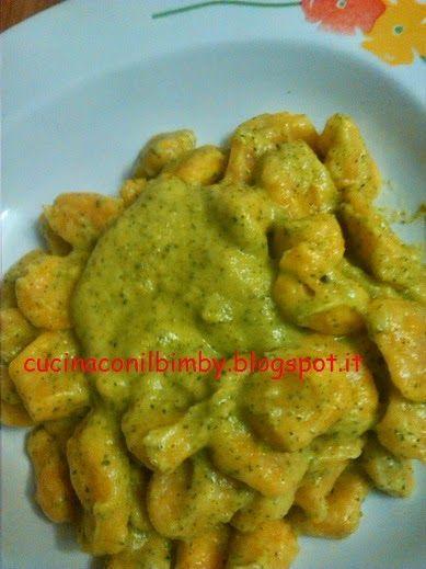 Cucina con il Bimby: Gnocchi di carote con crema di zucchine