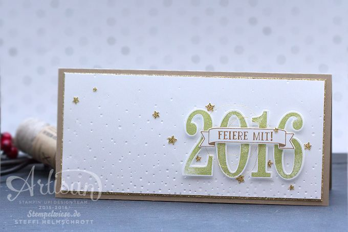 Stampin' Up! - Silvester - Einladung - New Year's Eve Card - Gold - So viele Jahre - Große Zahlen ❤︎ Stempelwiese