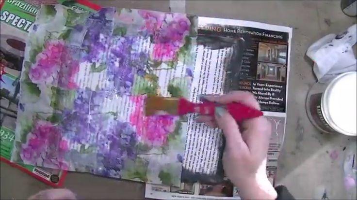 Art Journal Paper Napkin Background