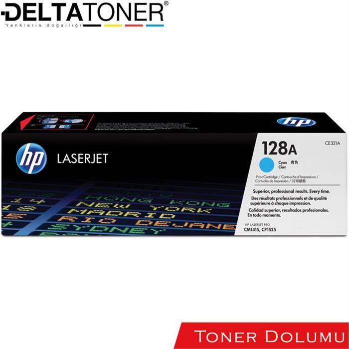 Hp CE321A Toner Dolum Mavi
