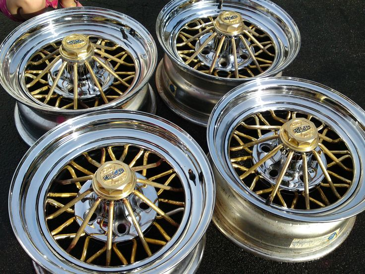 Cragar Rims Pre Owned 30 Spoke Gold Amp Chrome Star Wire